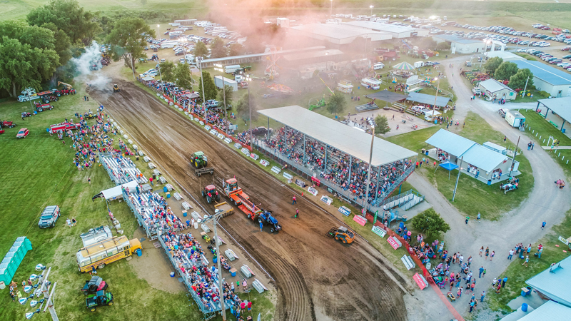 Tractor Pull in Leigh Nebraska Drone Photography